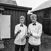 White Shirt Black Bow Tie by P G Magnus Ekwall