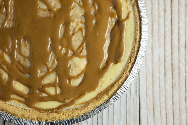 Swirled Cookie Butter Cheesecake