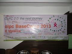 olpc BaseCamp 2013 @ Malacca poster