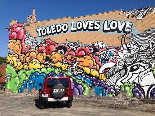 """Toledo Loves Love"" mural in downtown Toledo"