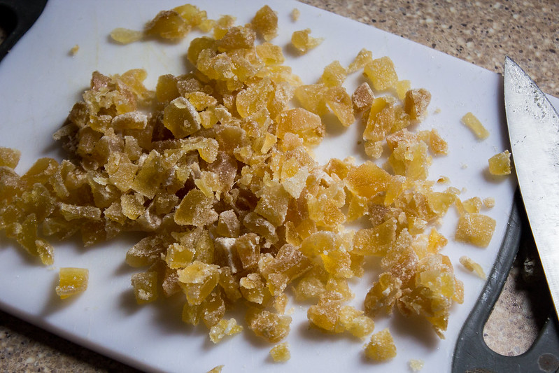 candied ginger, chopped