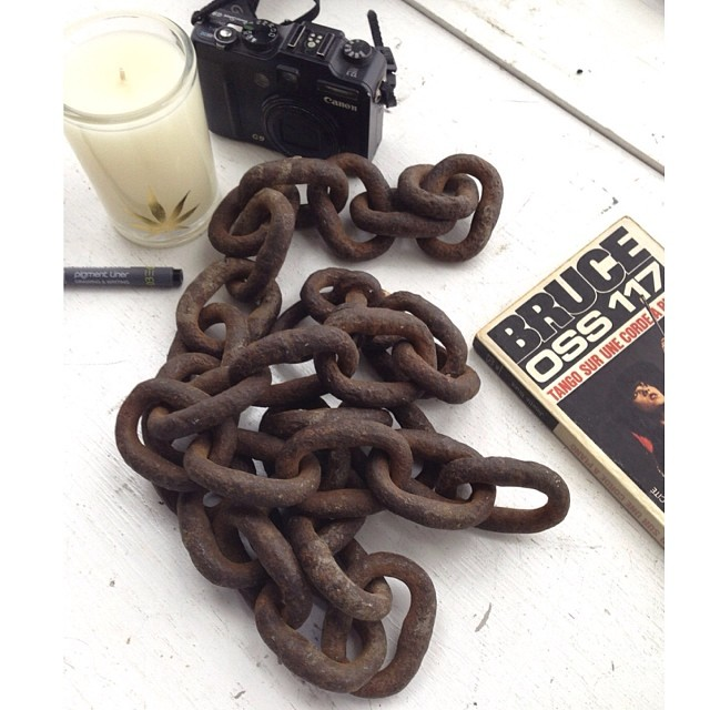 The perfect gift for your Dad is in our shop! Old iron anchor chain from the briny depths of Davy Jones' locker. #objet