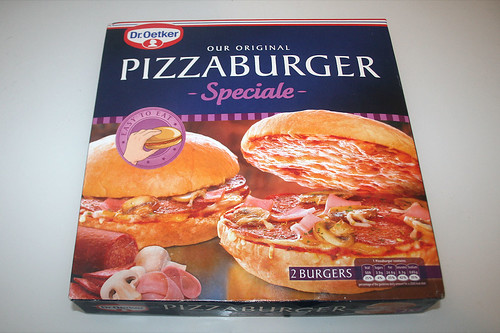 01 - Dr. Oetker Pizzaburger Speciale - Verpackung vorne / Wrapping front