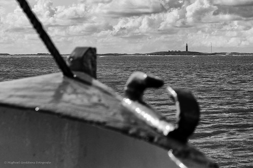Lighthouse Texel from boat