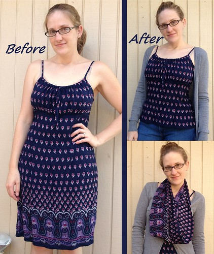 Navy Dress Refashion