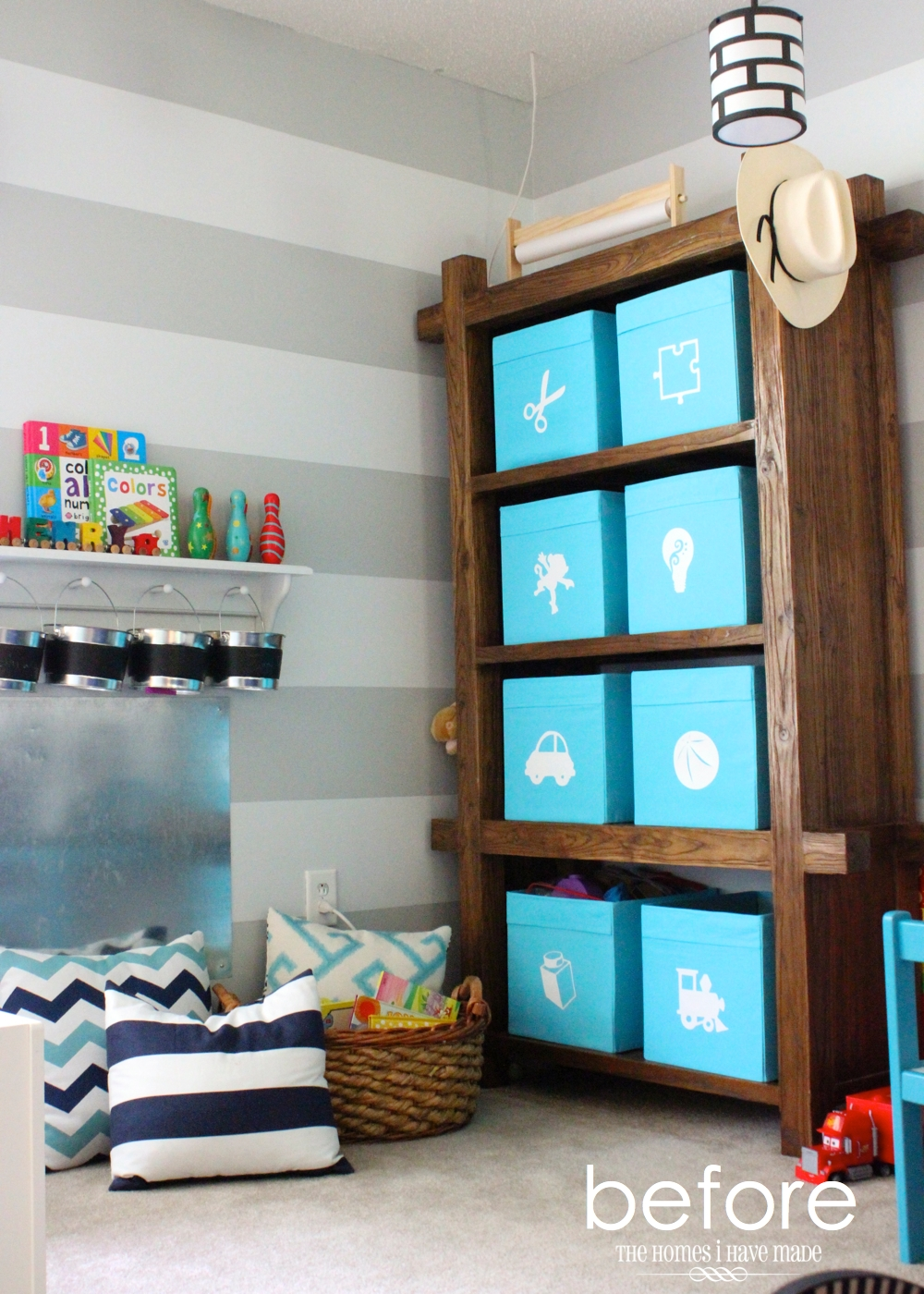 Toy storage in an ikea expedit the homes i have made - Toy storage furniture living room ...