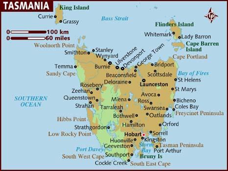map_of_tasmania