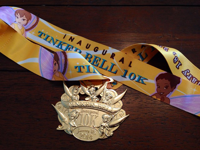 runDisney Tinker Bell 10K Medal 2014
