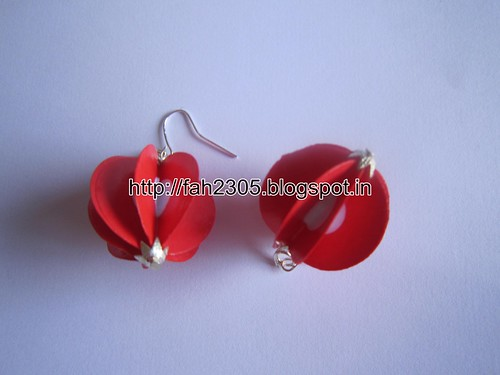 Handmade Jewelry - Paper Double Punch Globe Earrings (2) by fah2305