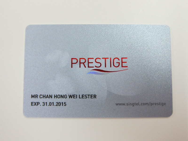 SingTel Prestige - Card Front