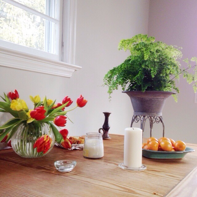 Party aftermath. #tulips #maidenhairfern