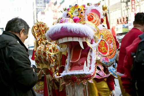chinatown lunar parade lion
