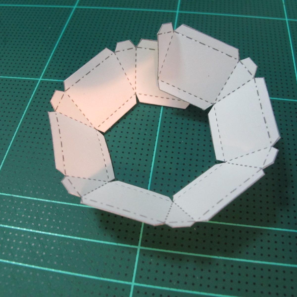 วิธีทำของเล่นโมเดลกระดาษรูปพระอาทิตย์ยิ้ม (Smiling Sun Paper Craft Model) 006