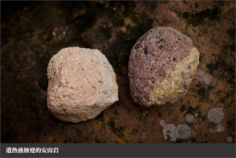 遭熱液蝕變的安山岩