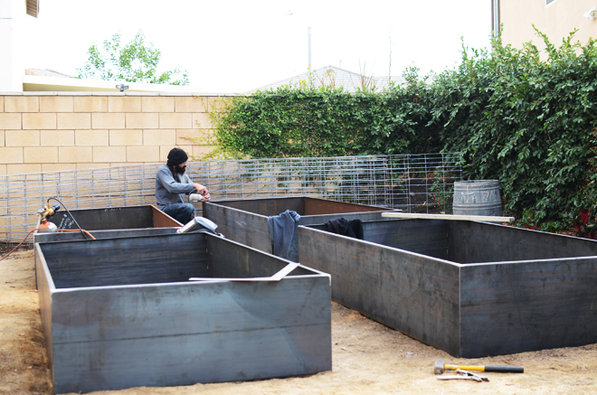 cor ten steel garden beds CAKIES