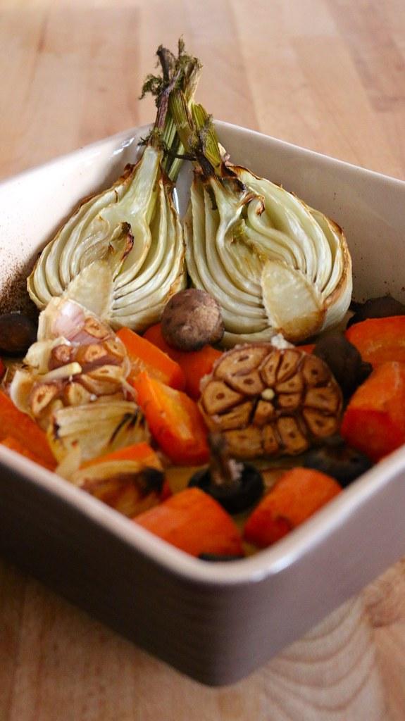Roasted Veggies for Vegetable Stock