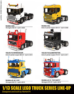 1/13 SCALE LEGO TRUCK SERIES LINE-UP / 2006-2013