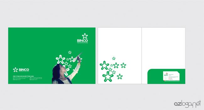 Thiết kế kẹp file Công ty tư vấn du học BINCO