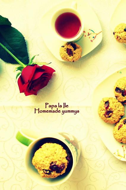 Biscuiți de ovaz cu merișoare... poze (7)