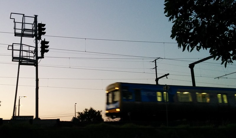Train passing signal