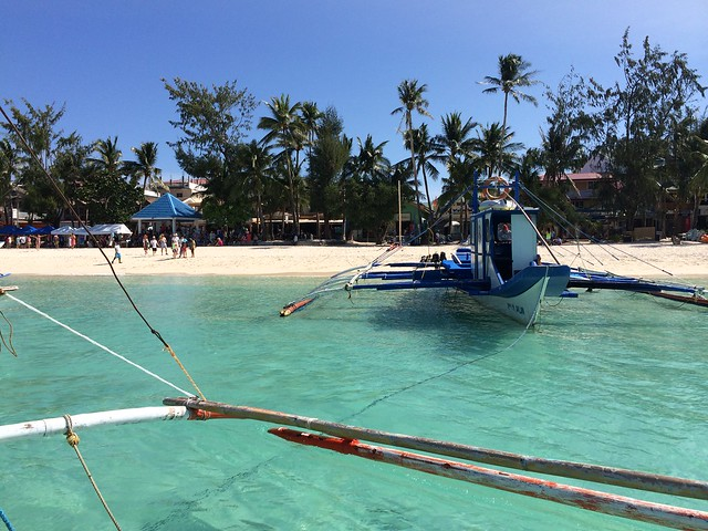 Boating around Boracay