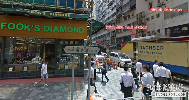 directions from  A21 82 84 Nathan Road bus stop to Mirador Mansion Cosmic Guest House (4)