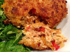 meal, breakfast, vegetable, panko, fried food, crab cake, meat, food, dish, cuisine,