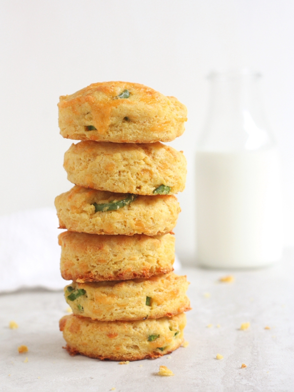 Cheddar-Jalapeno Cornmeal Biscuits