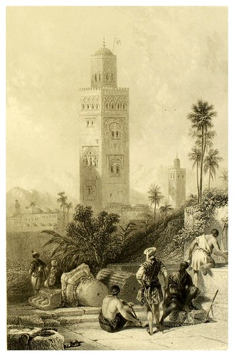 014-Torre de la gran mezquita de Marruecos-Picturesque views in Spain and Morocco…Tomo II-1838-David Roberts