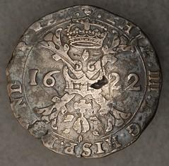 Spanish Netherlands, Brugges, silver Patagon, 1622