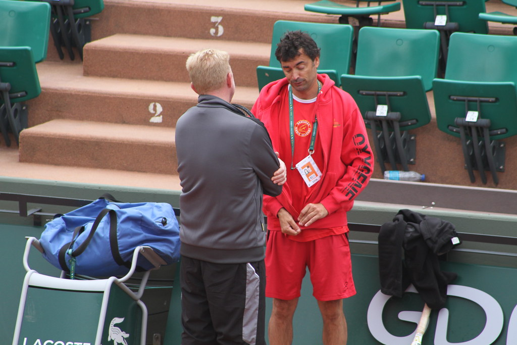 Boris Becker and Sergi Bruguera