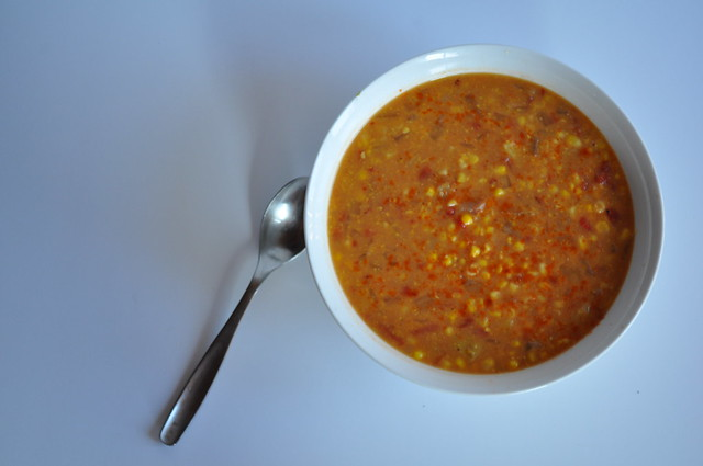 Coconut-Curry Corn Soup