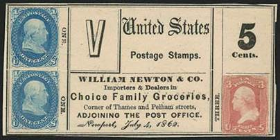 William Newton postage stamp scrip