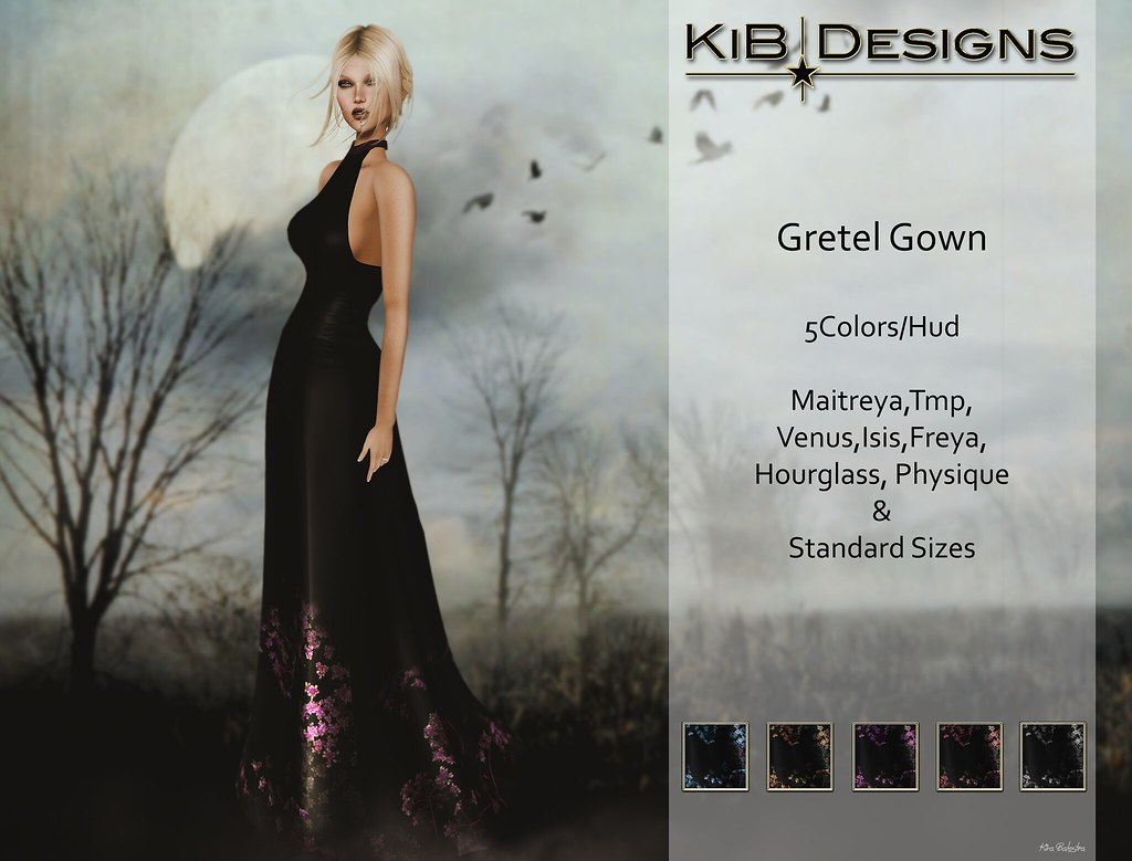 KiB Designs - Gretel Gown @The Darkness - SecondLifeHub.com