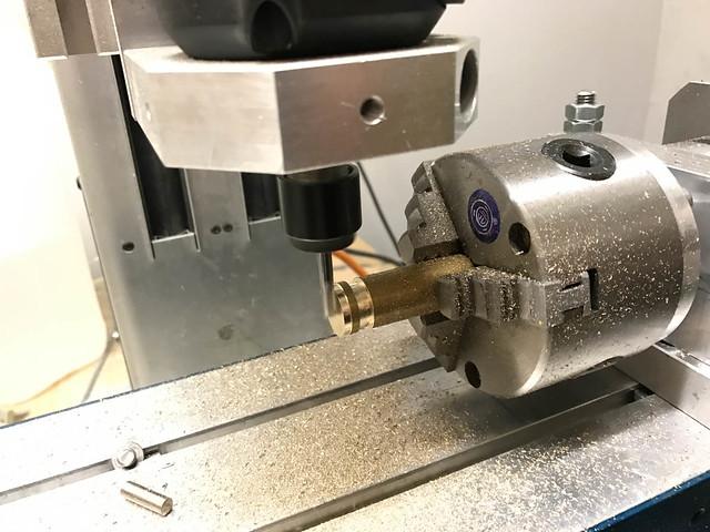 Erster Test mit kontinuierlicher Rotation und manuellem Verfahren