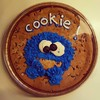 Yes, it's a giant cookie (monster) eating a cookie. No, I didn't make it. Yes, I buy grocery-store desserts based on how cute they look.