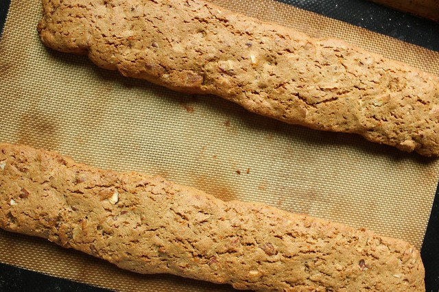sprouted wheat biscotti