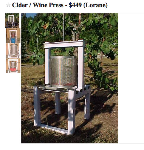 Joso presses etc sake northern brewer forum for Craigslist eugene farm and garden