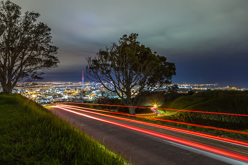 Auckland light trails A by Mikey Mack