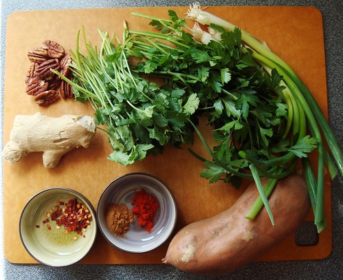 Herb & Ginger Roasted Sweet Potato: Ingredients
