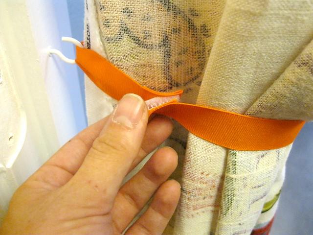 velcro on curtain ribbon