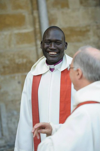 The Bishop of Wau had travelled to Salisbury via Ireland
