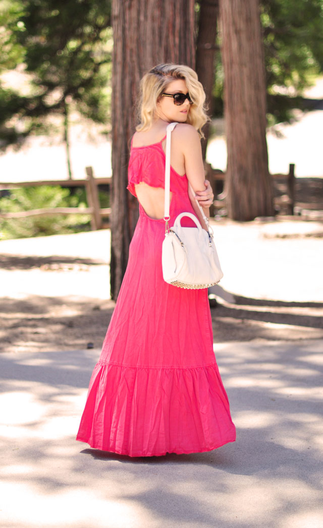 Coral Backless Maxi