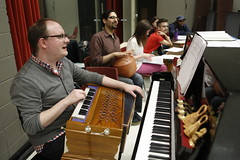 Music Director Doug Peck in rehearsal for the world-premiere musical adaptation of THE JUNGLE BOOK. Photo: Liz Lauren