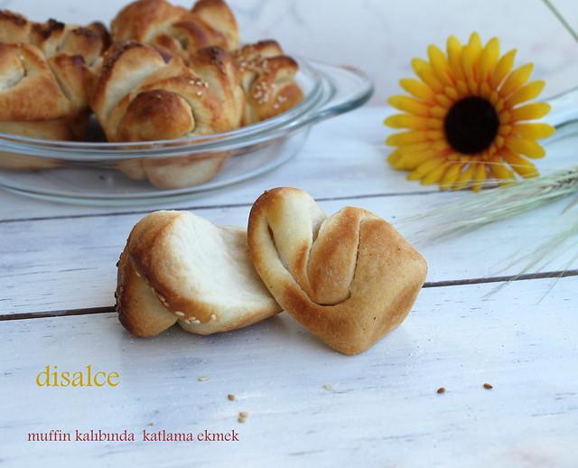 muffin kalıbında katlamalı ekmek
