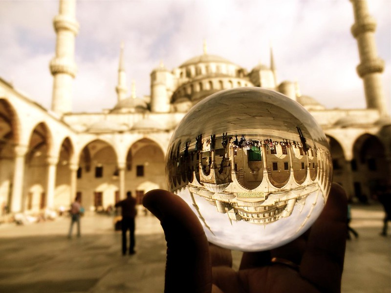 Holding up the blue mosque