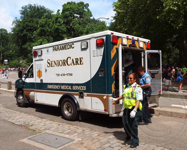 Paramedic SeniorCare Ambulance, 2013 Aquaphor New York City Triathlon
