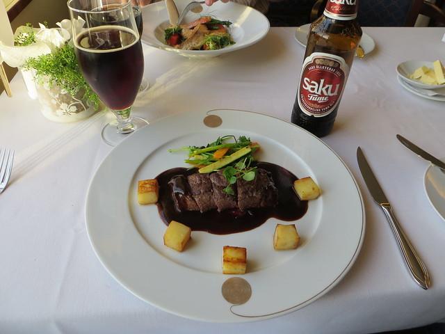 Un plato de carne de reno