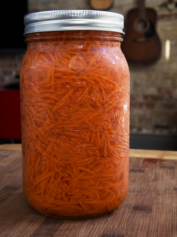 How to Pickle Carrots: Quick Pickled Carrot Recipe pickled carrot fridge pickles Carrot