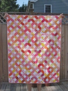 January Hugs and Kisses quilt for the do. Good Stitches Trust Circle